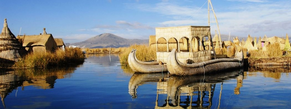 Uros Floating Island Lake Titicaca tour tour package vacation travel viait peru south america